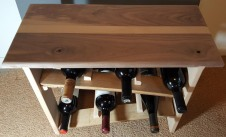 Walnut Tabletop Wine Rack