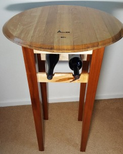 High Top Wine Barrel Table