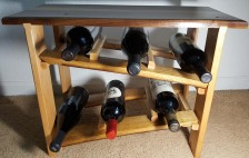 Walnut Tabletop Wine Rack